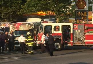 fire truck crash injures 10